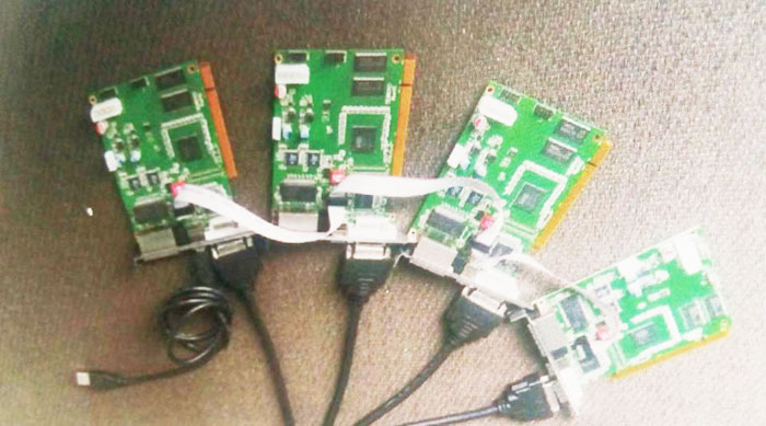 4 pcs linsn TS802d sending card