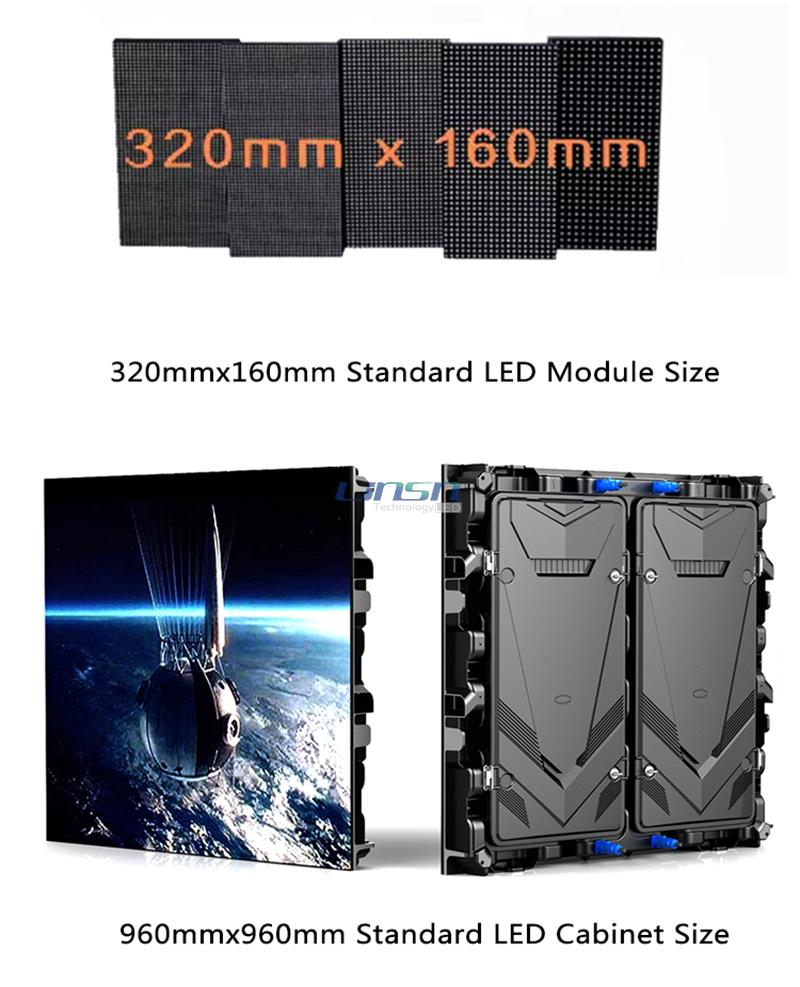 960mmx960mm Standard Size LED Screen
