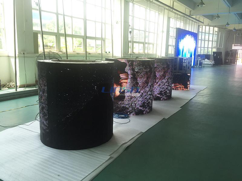 Circular Column LED Display