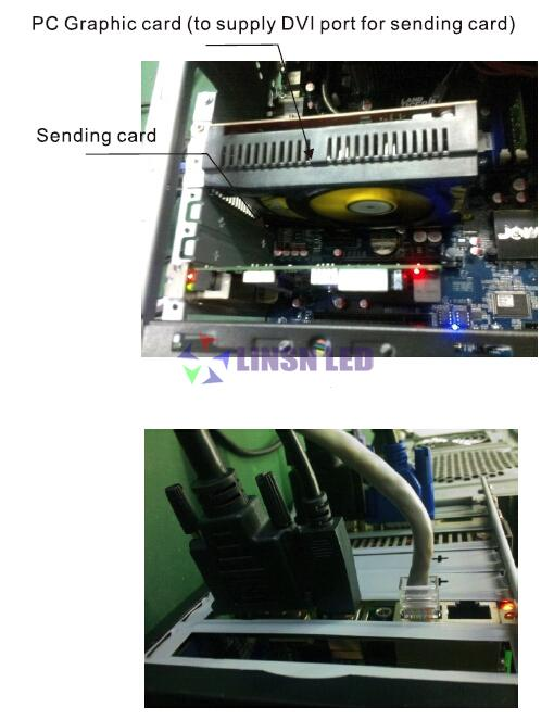 Install Led sending card to PC computer