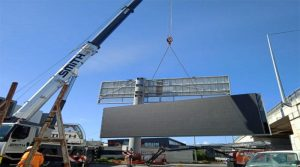 LED display steel structure installatio