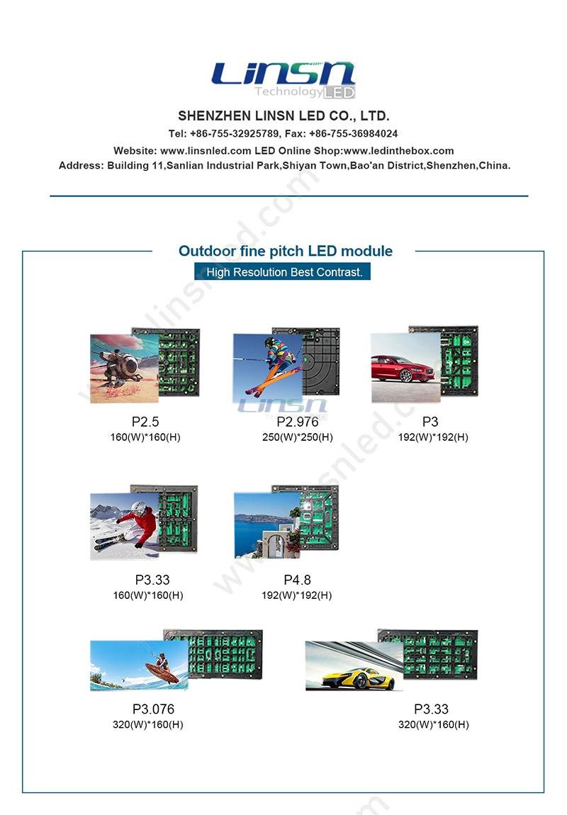 Outdoor Fine Pixel Pitch LED Display Module