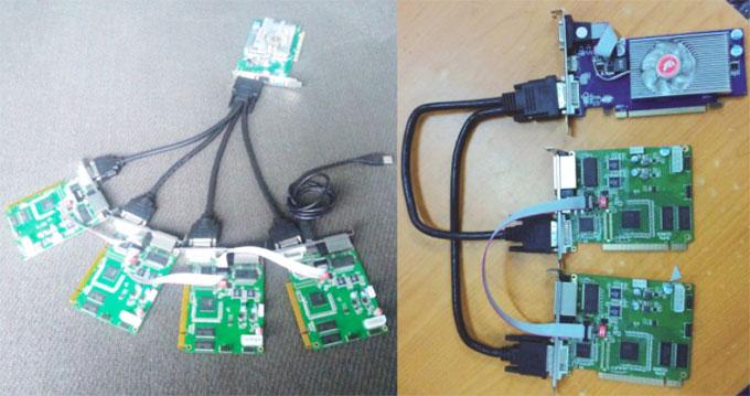 TS802D Sending Card Cascade Connection
