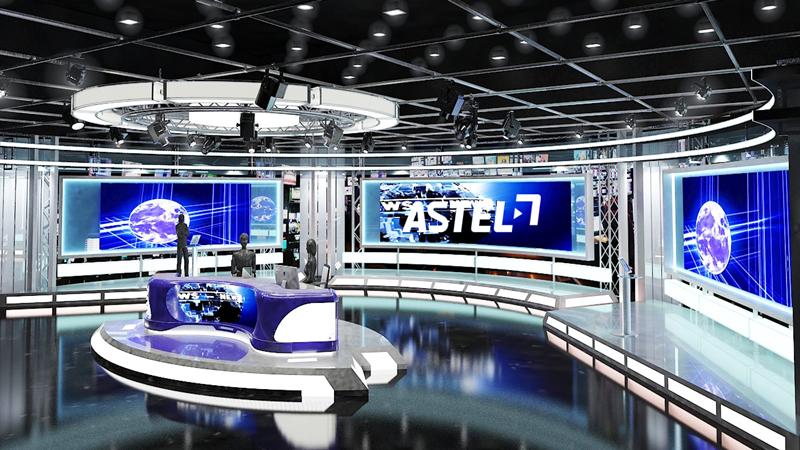 TV studio LED screen rental highlights the whole studio room
