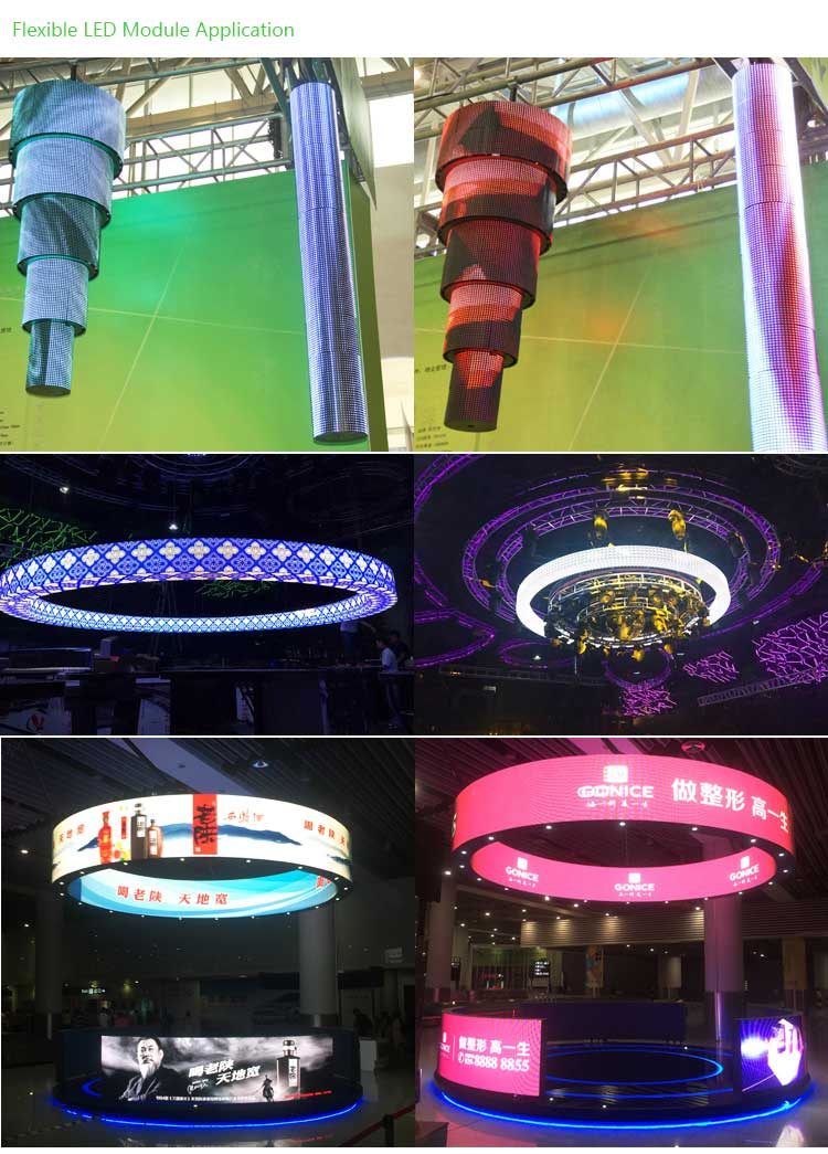 Flexible Soft LED display Application