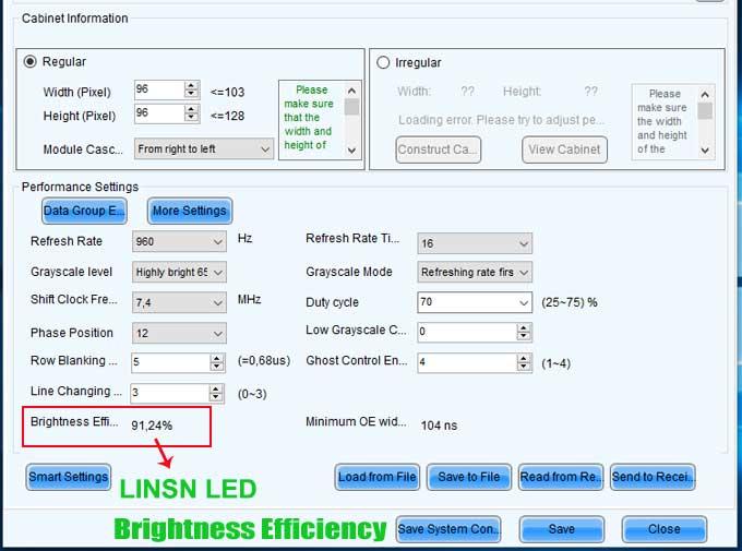 Brightness Efficiency LD display