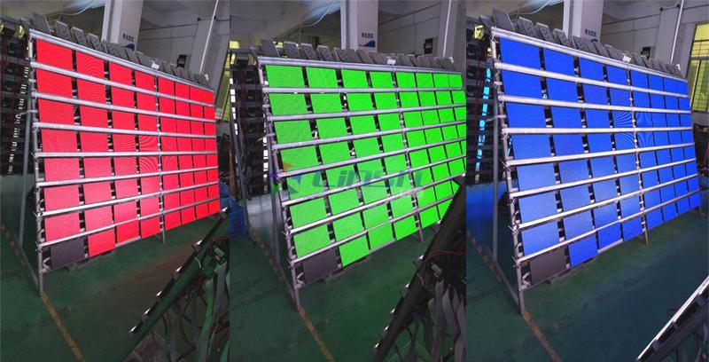 led display panel testing