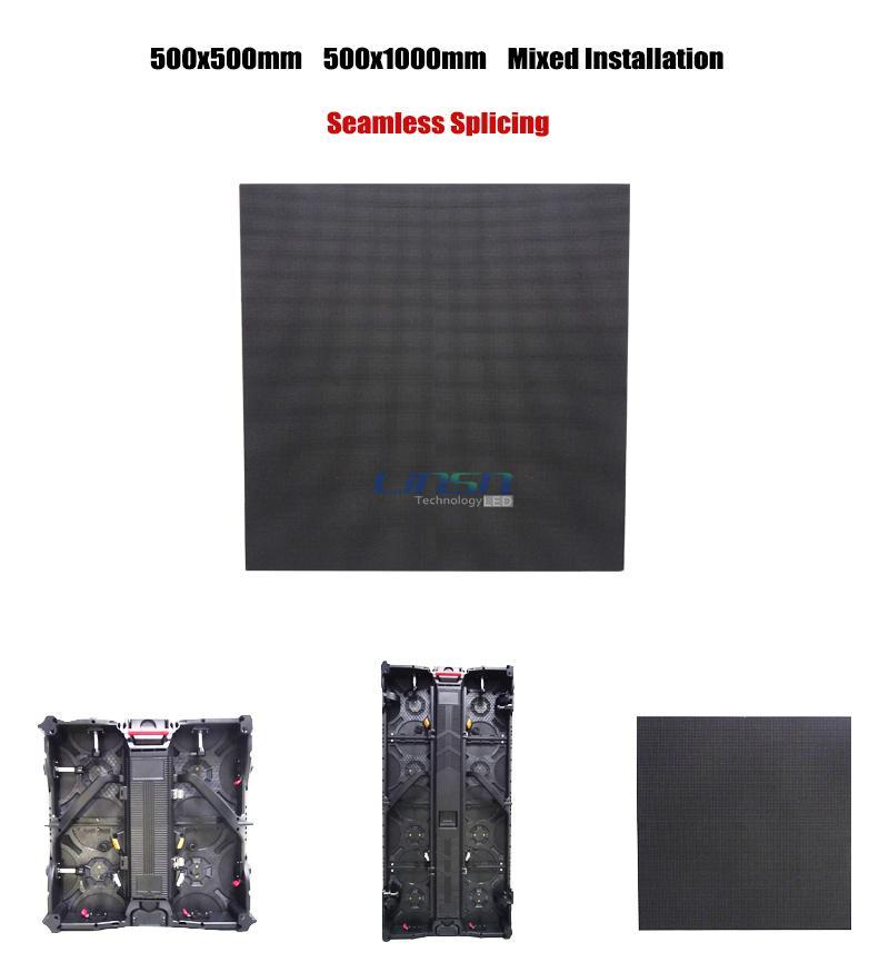 mixed installation Magnesium Alloy LED cabinet