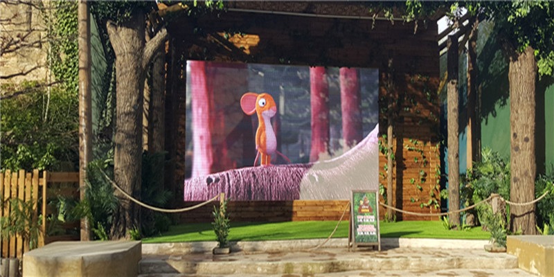 Outdoor rental LED display with high adapitability and high brightness