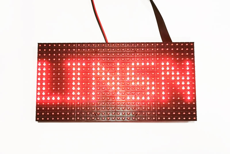 P10mm red color LED display module