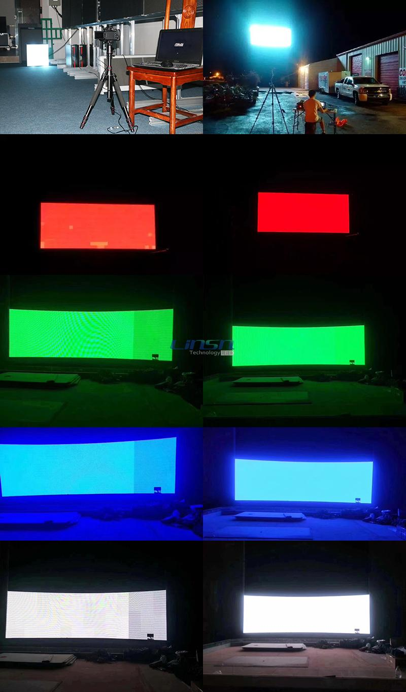 after dot Calibration LED display
