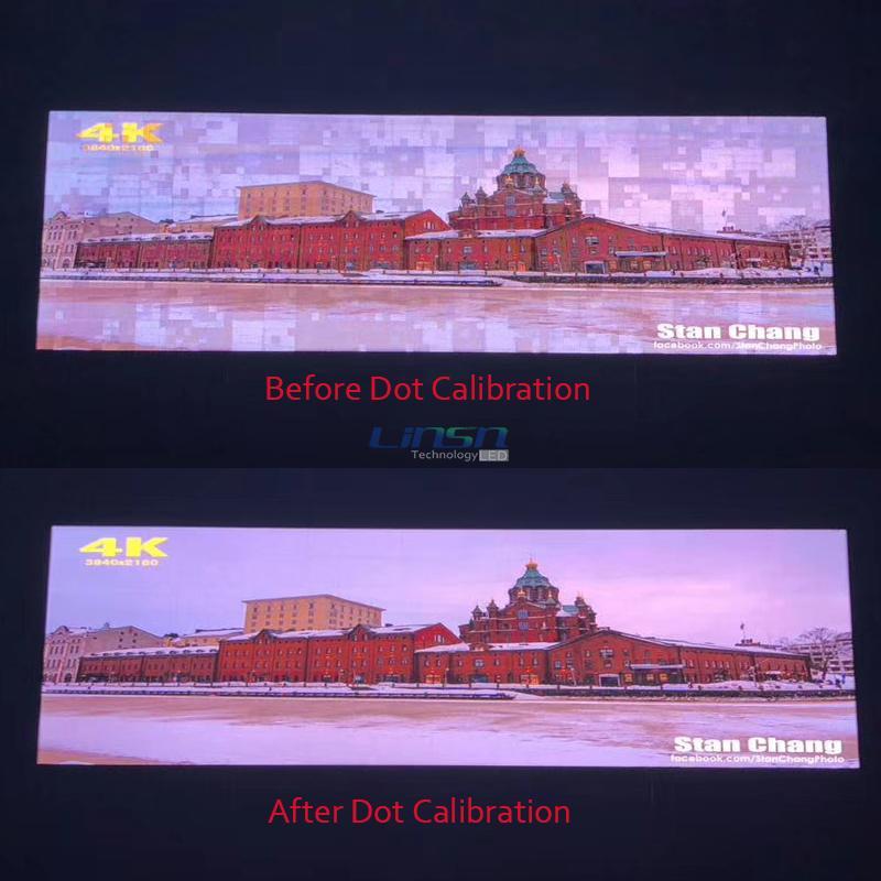 Dot Calibration LED video wall