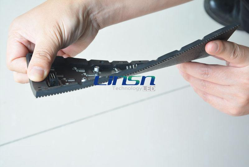 P4mm flexible Soft LEd display panel
