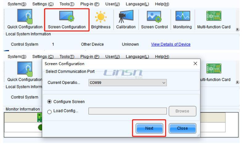 Novastar NovaLCT Screen Configuration