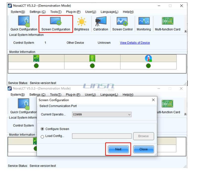 Novastar NovaLCT Screen configuration Setting