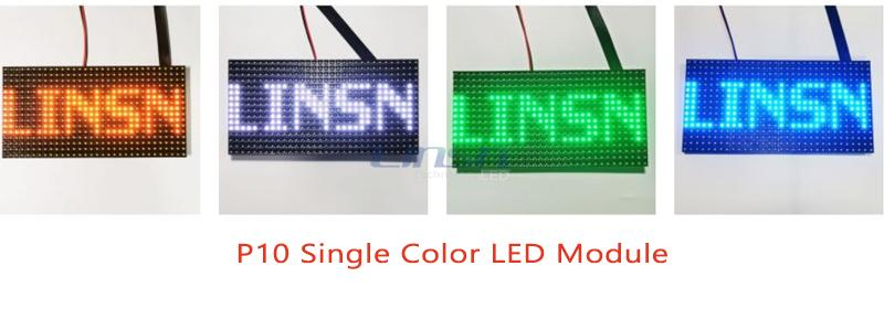 P10 single color led panel