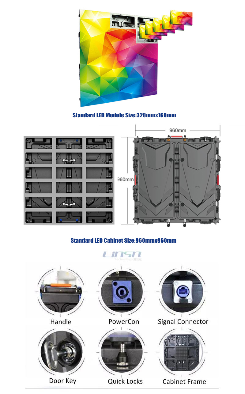 outdoor energy saving led screen