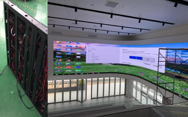LED curved display achieve creative display