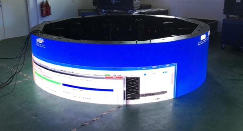 Round LED display case sharing