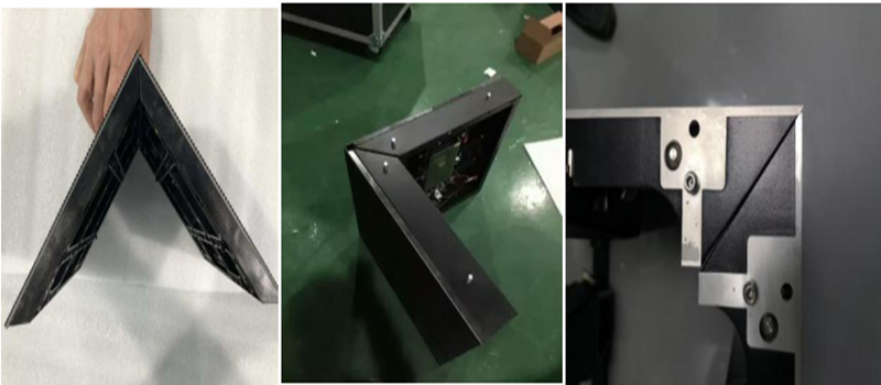Special shaped LED displays for case sharing