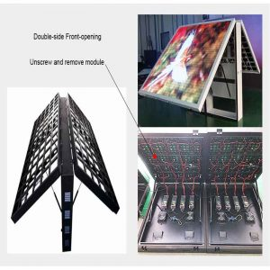 Double-side front opening LED display screen