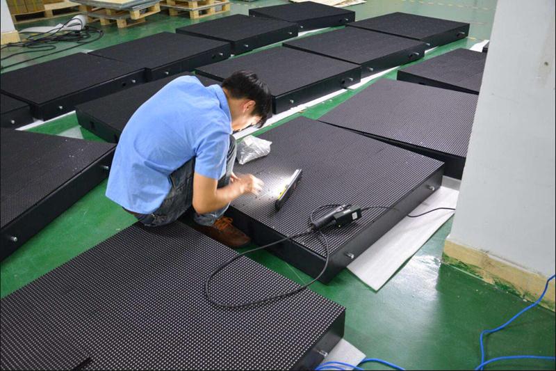 Front service LED module production process