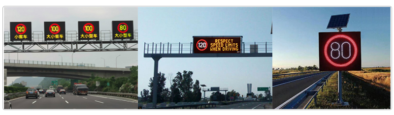 traffic speed limit led display