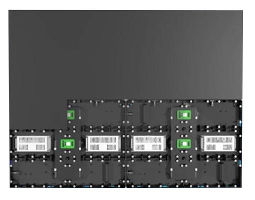 640x480mm LED video wall