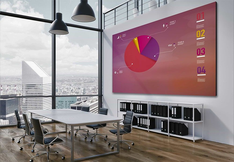 LED screen wall for meeting room
