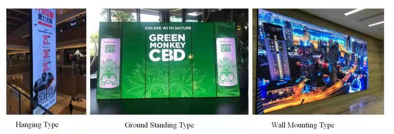 LED video wall installation methods
