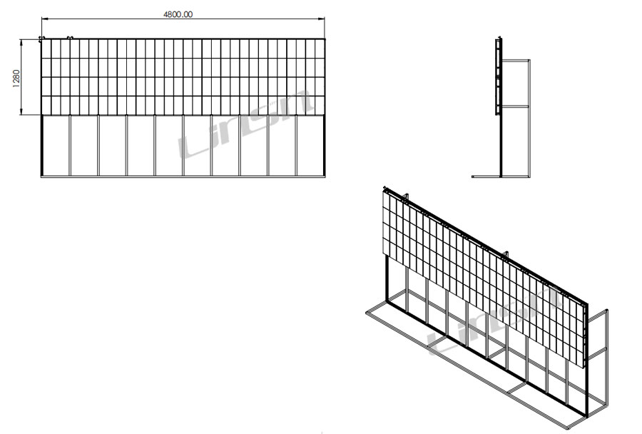 P2.5mm 640×480mm LED Display Structure Drawing