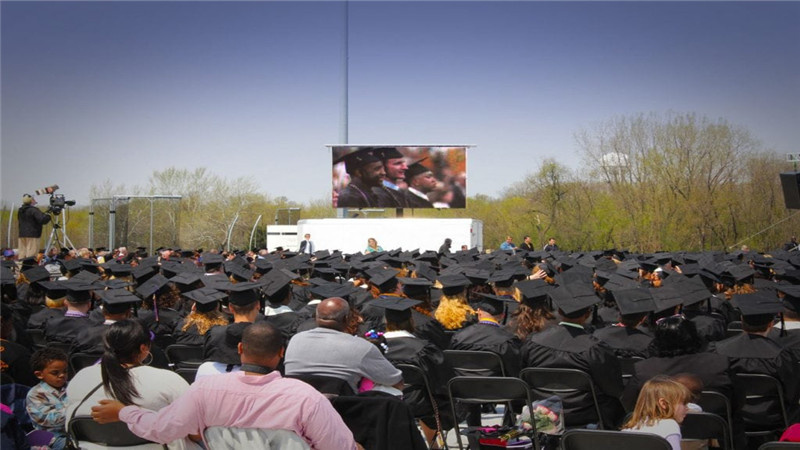 outdoor LED disply rental for graduation