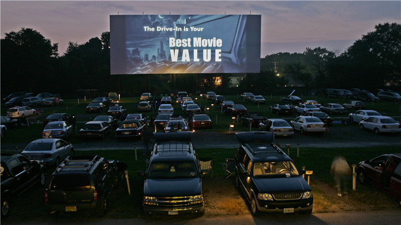 outdoor rental LED screen for drive-in events