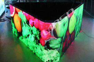 threee sided led display