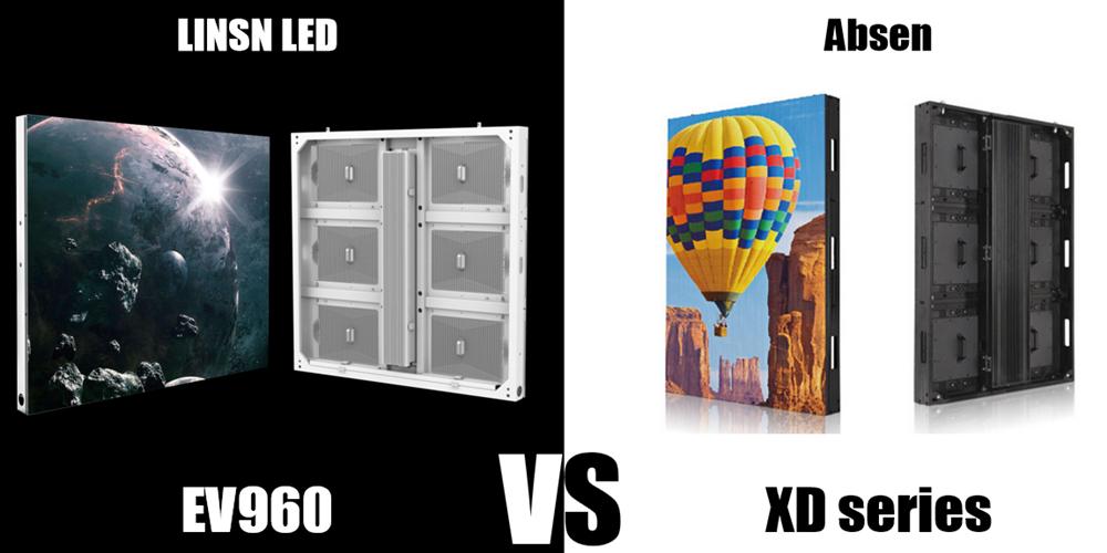 EV960 Linsn LED display VS Absen