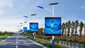 High resolution pole lighting LED display