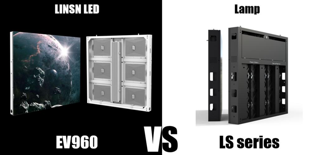 Linsn ev960 outdoor LED display VS Lamp LS series