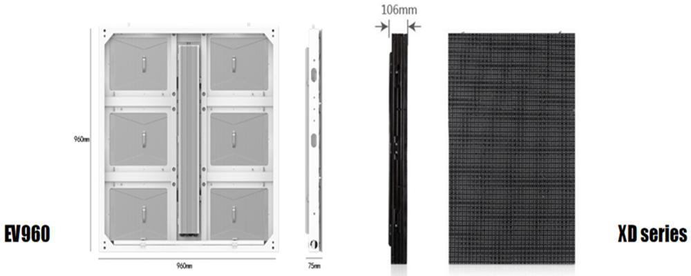 light and thin Linsn energy saving LED display screen EV960