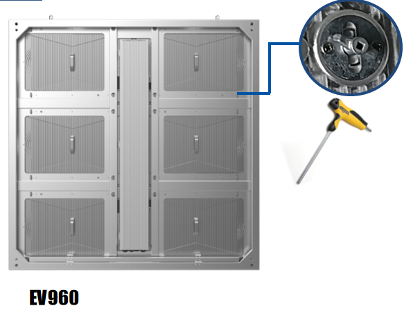 lock system of ev960 Linsn LED screen