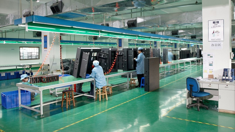 led screen production factory