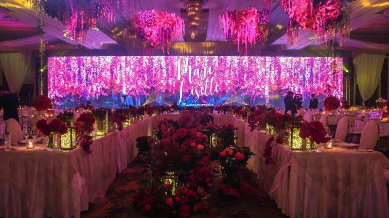 Wonderful wedding LED display screen rental for your warm and beautiful wedding